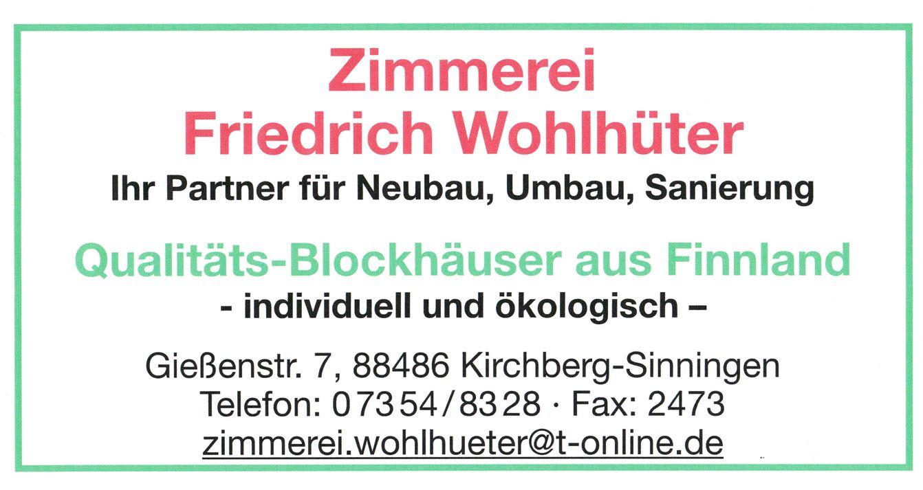 Zimmerei Wohlhüter Kirchberg-Sinningen
